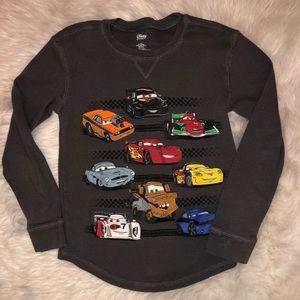 Disney Boys Cars Long Sleeve Thermal Gray